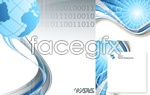 Link toTechnology line background vector