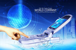 Link toTechnology mobile phone ads psd
