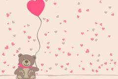 Link toTeddy bear balloon vector