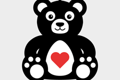 Link toTeddy bear cartoon love vector