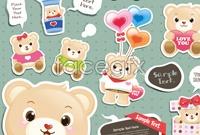 Link toTeddy bear cartoon map vector