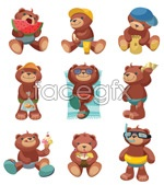 Link toTeddy bear cartoon vector