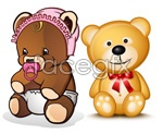 Link toTeddy bear vector