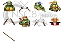Teenage mutant ninja turtles movie icons