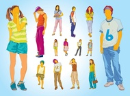 Link toTeenager illustrations vector free