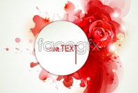 Link toText, rose background vector