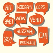 Link toText short words and speech bubbles design vector 01 free