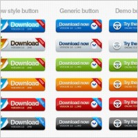 Link toTexture button psd layered