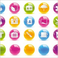 Link toTexture of the crystal ball button icon vector