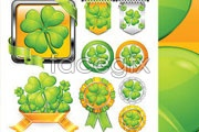 Link toTextured clover theme icon vector