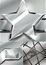 Textured stars background vector