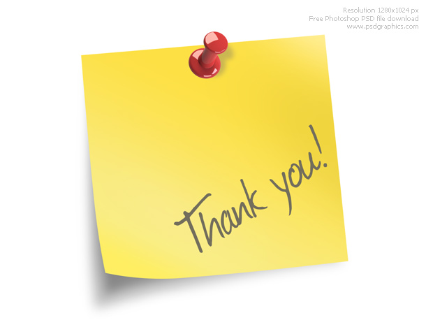 Link toThank you note psd