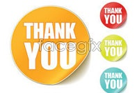 Link toThank you round stickers vector