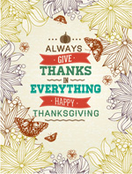 Link toThanksgiving patterns poster vector