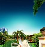 Link toThe beautiful landscape gardens psd
