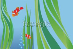 Link tovector world underwater beautiful The