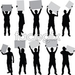 Link toThe billboard people silhouette vector
