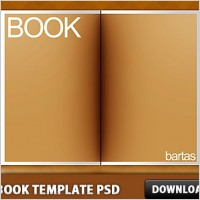 Link toThe book template free psd
