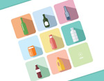 Link toThe bottle icons vector