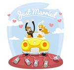Link toThe bride and groom vector