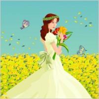 Link toThe bride flowers vector