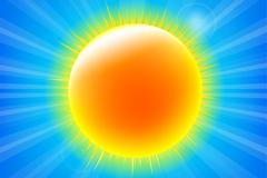 Link toThe bright yellow sun design vector