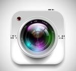 Link toThe camera app icon vector