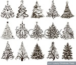 Link toThe christmas tree pattern vector