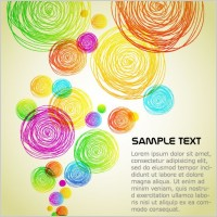 Link toThe colorful background clutter vector 2 lines