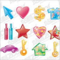 Link toThe colorful life of material supplies vector