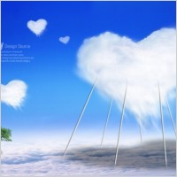 Link toThe creative love baiyun template layered
