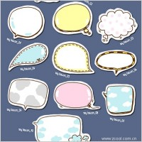 Link toThe cute dialogue bubble icon psd layered 1