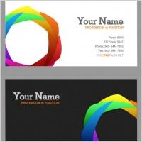 Link toThe delicate color wheel business card psd layered