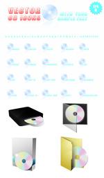 Link toThe disc icon vector