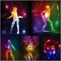 Link toThe effect of light graffiti painted women vector
