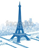 Link toThe eiffel tower vector