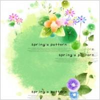 Link toThe elegant spring flowers psd pattern
