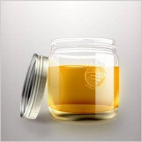 Link toThe exquisite honey bottle psd layered