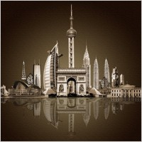 Link toThe famous urban architecture psd