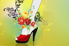 Link toThe fashion trend of wearing red high heels beauty vector