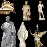 Link toThe figure sculpture psd layered
