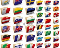 Link tovector icons folder flags The