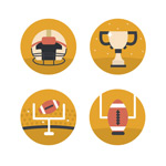 Link toThe football element icon vector