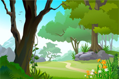 Link toThe forest track vector
