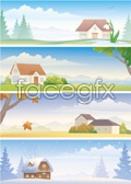 Link toThe four seasons scenery vector