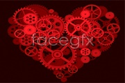 Link toThe gears of the creative heart-shaped vector