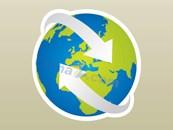Link toThe globe icon vector