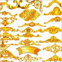 Link toThe gold ornamentation psd layered