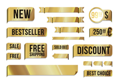 Link toThe gold sale tag vector