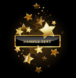 Link toThe golden five-pointed star vector